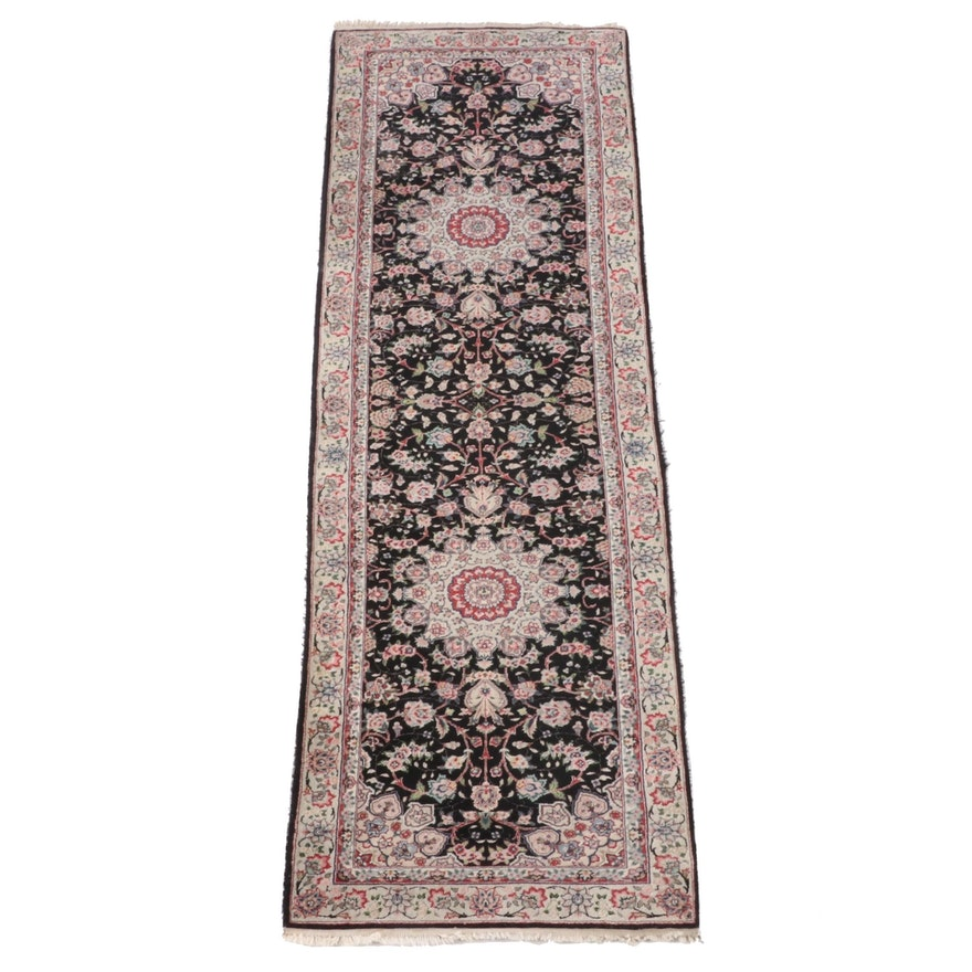 2'2 x 9'2 Hand-Knotted Floral Wool Carpet Runner