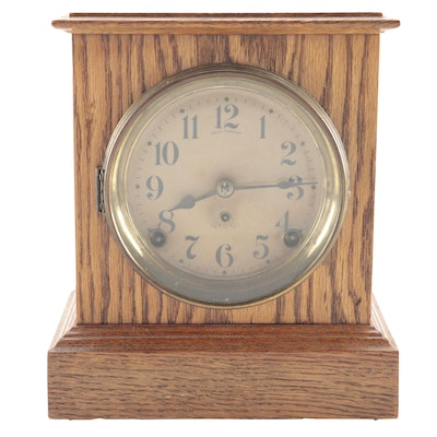 Seth Thomas Oak Mantel Clock