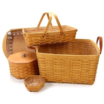 Five Handwoven Longaberger Baskets