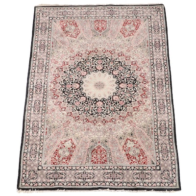 3'9 x 5'11 Hand-Knotted Floral Wool Rug