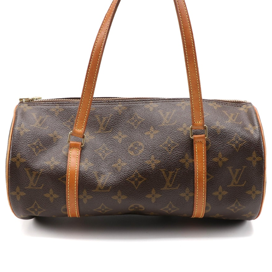 Louis Vuitton Papillon 30 in Monogram Canvas and Vachetta Leather