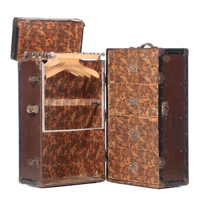 "Shwayder Trunk Mfg. Co. ""Samson"" Steel-Clad Wardrobe Trunk, Early 20th Century"