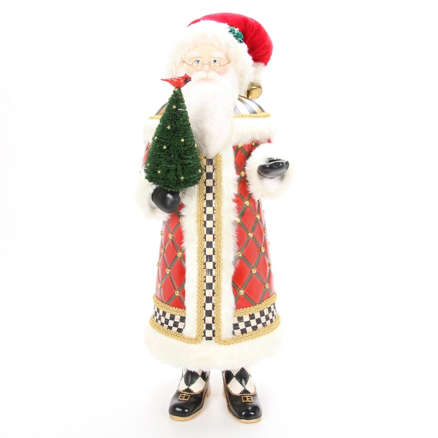 """Mackenzie Childs """"Highland Santa"""" with Tartan and Courtly Check  Cloak"""