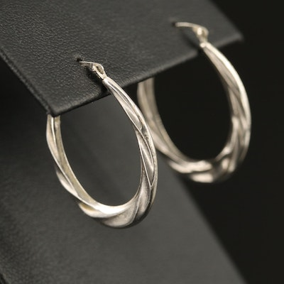 10K Twisted Hoop Earrings