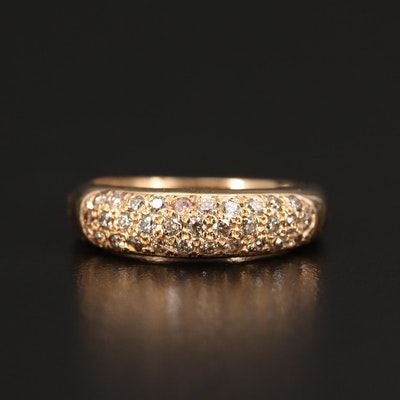 14K Diamond Encrusted Band