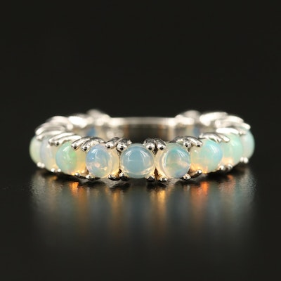Sterling Silver Opal Band
