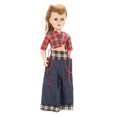 "American Character ""Sweet Sue"" Hard Plastic Walker Doll, 1950s"
