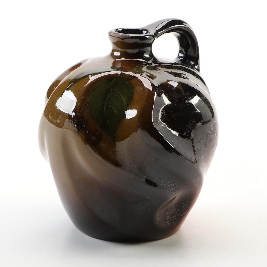 "Louwelsa Weller ""Blackberry"" Standard Brown Glaze Whiskey Jug"
