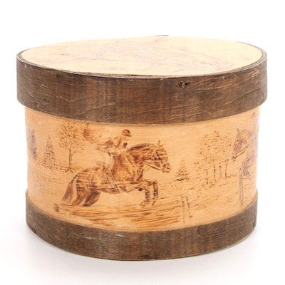 Pine Grove Arts Pyrography Equestrian Theme Box