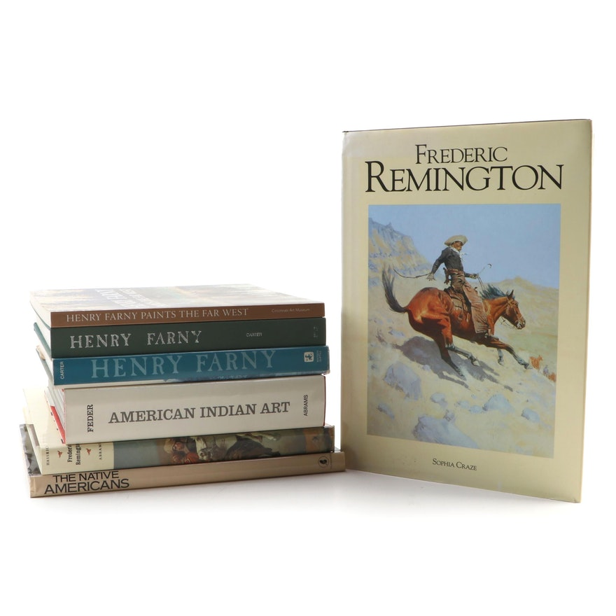 "Art Books Including ""Frederic Remington"" and ""Henry Farny"""