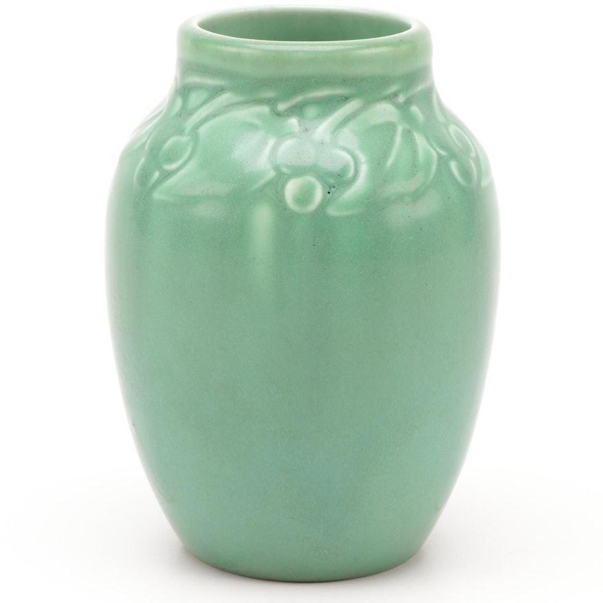 """Rookwood Pottery Matte """"Rose Hips"""" Vase, 1927"""
