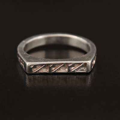 Western Style Carlisle Jewelry Sterling Silver Band