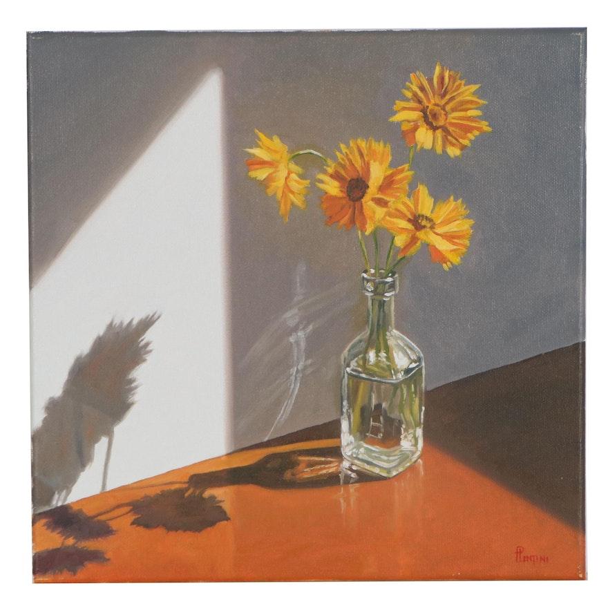 """Peter Lentini Still Life Oil Painting """"Umbra"""""""