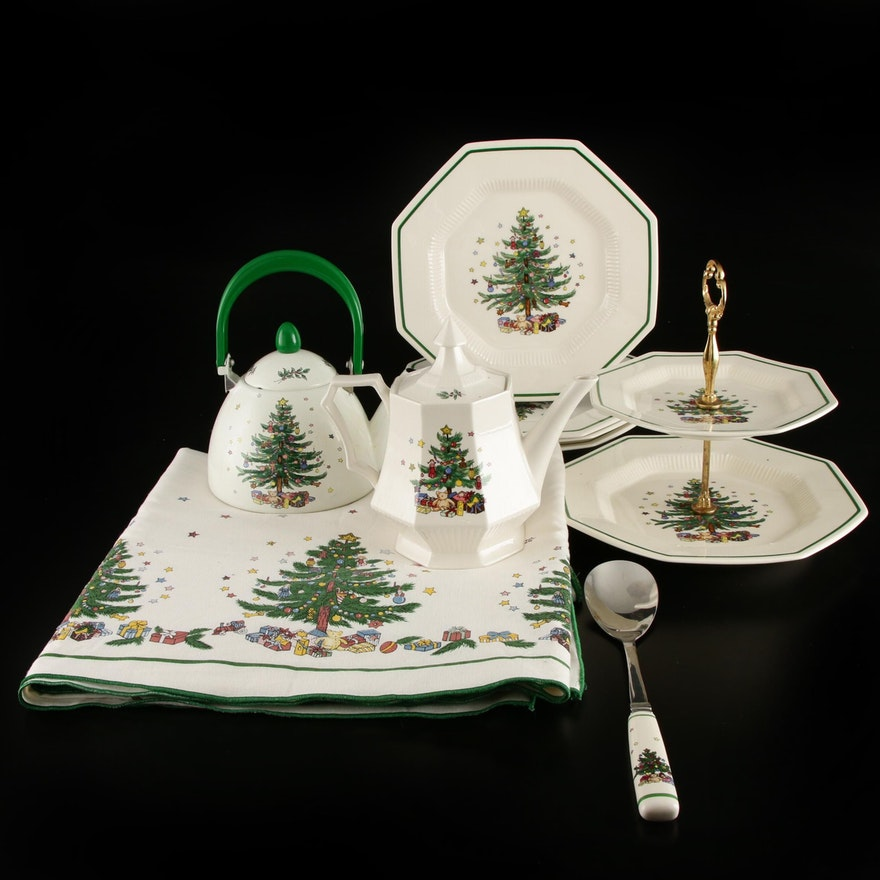 """Nikko """"Christmastime"""" Serveware and Table Accessories, 1991–2014"""