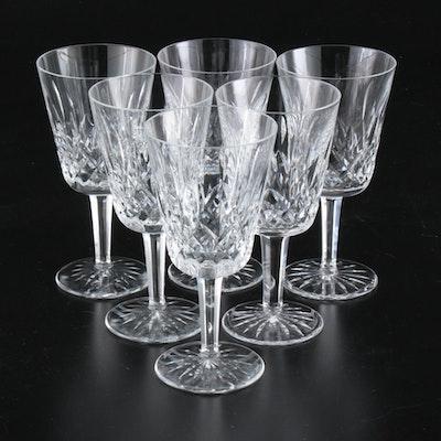 "Waterford ""Lismore"" Crystal Water Glasses"