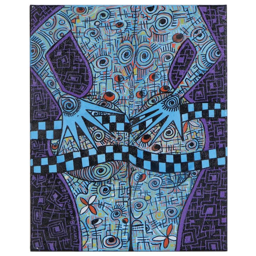 "Lanre Buraimoh Acrylic Painting ""Sensual"", 2016"