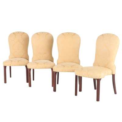 Rounded Back Upholstered Side Chairs