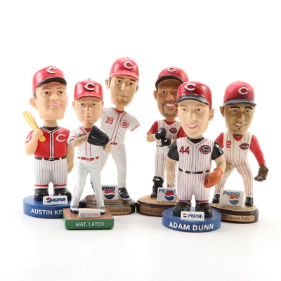 Cincinnati Reds Bobblehead Dolls with Boxes Including Latos, Kearns, and More