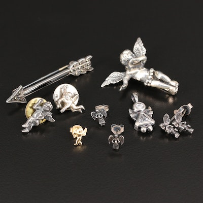 Sterling and 14K Jewelry Featuring Cherubs and Angels