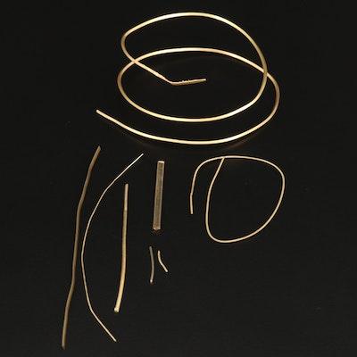 18K Gold Scrap Wire