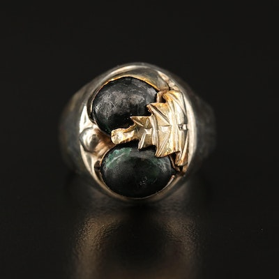 Sterling Obsidian Ring