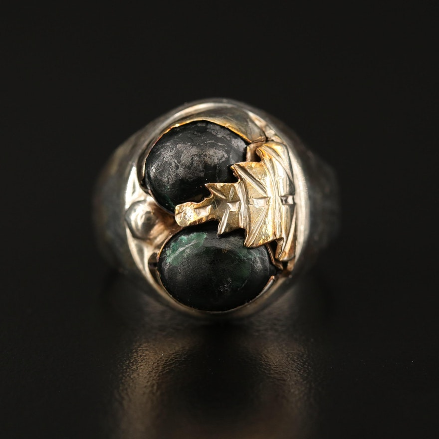 Sterling Obsidian Ring