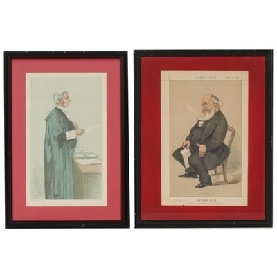 "Leslie Ward Chromolithograph Caricatures for ""Vanity Fair"", Late 19th Century"