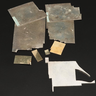 Assortment of Soldered Sheets Including 14K, 18K and Sterling