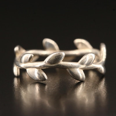 """Paloma Picasso for Tiffany & Co. Sterling Silver """"Olive Leaf Band"""""""