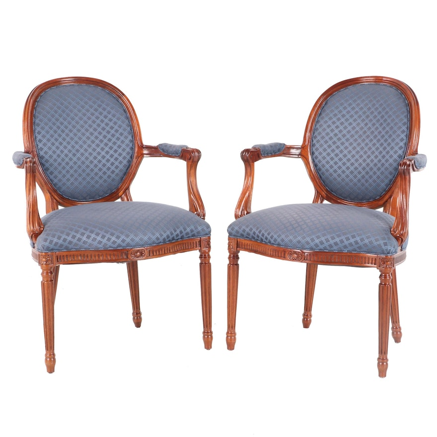 Hickory Chair Co Louis XVI Style Fauteuils