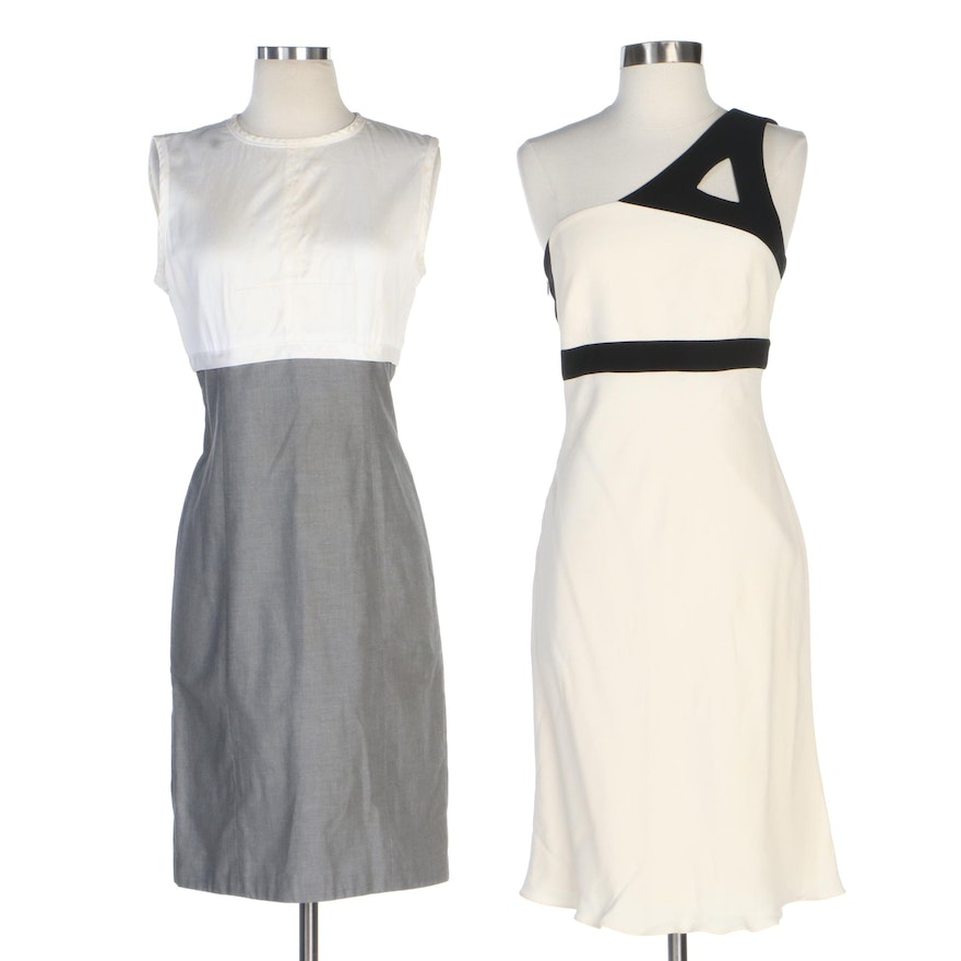Giorgio Armani and Narciso Rodriguez One-Shoulder and Sleeveless Dresses