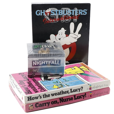 "Spycraft and ""Ghostbusters"" Games and Charlie Brown Lucy Colorforms Sets"
