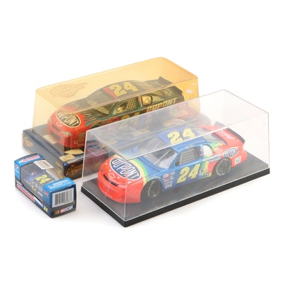 Jeff Gordon NASCAR Die-Cast Cars 1:24 with Display Cases and More