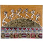 "Lanre Buraimoh Acrylic Painting ""The Journey"", 2020"