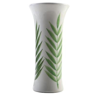 Este Ceramiche for Tiffany & Co. Ceramic Vase with Fern Motif
