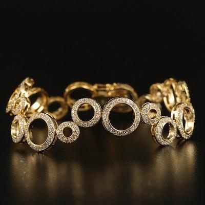 Sterling Cubic Zirconia Geometric Bracelet