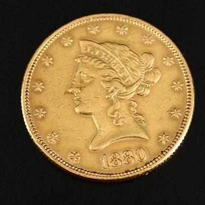 1880 Liberty Head $10 Gold Eagle