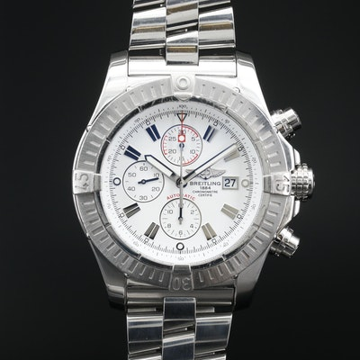 Breitling Super Avenger Chronograph Stainless Steel Automatic Wristwatch