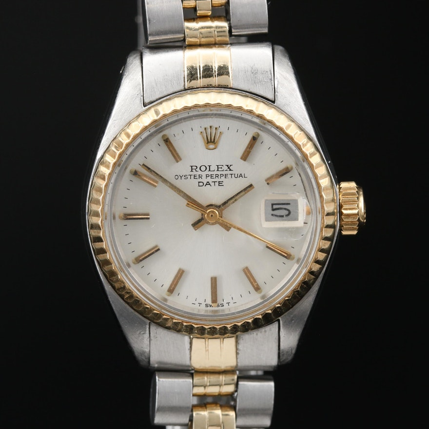 1978 Rolex Date 6917 14K Gold and Stainless Steel Automatic Wristwatch