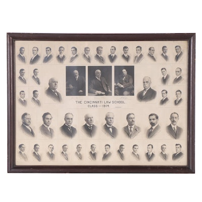 "Silver Gelatin Photograph ""The Cincinnati Law School Class - 1914"""