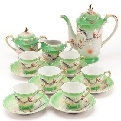 Japanese Porcelain Moriage Dragon Ware Tea Set, Mid-20th Century