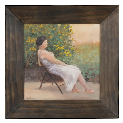 "Marcus Brewer Oil Painting ""Elia Seated"""