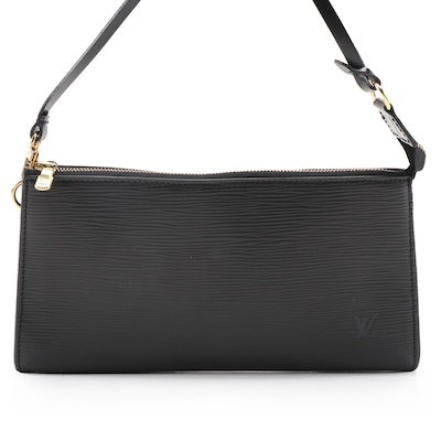 Louis Vuitton Pochette Accessories 24 Bag in Noir Epi Leather