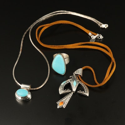 Sterling Jewelry Selection Featuring Desert Rose Trading and Running Bear Shop