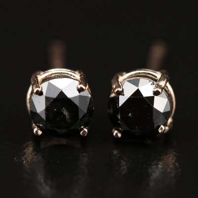 14K 0.77 CTW Black Diamond Stud Earrings
