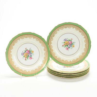 "Tressemanes & Vogt ""La Cloche"" Porcelain Dinner Plates, Early/Mid 20th Century"