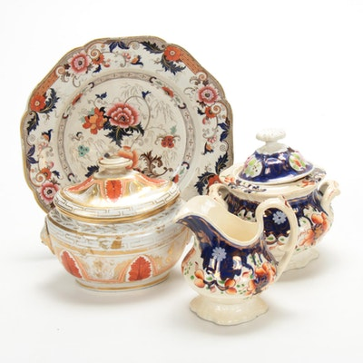 Bentick, Gaudy Welsh, and Other Hand-Painted English Earthenware, 19th Century