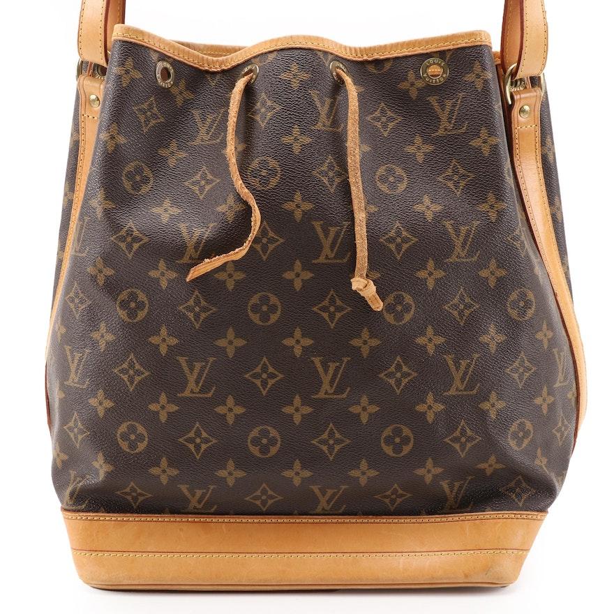Louis Vuitton Noé Bucket Bag in Monogram Canvas and Vachetta Leather