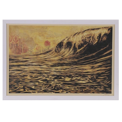 "Shepard Fairey Offset Print ""Dark Wave"", 2019"