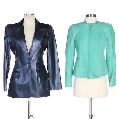 Linda Allard for Ellen Tracy Leather Jackets